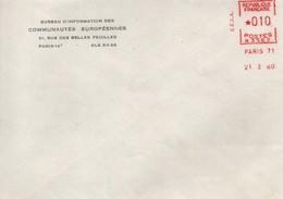 UE105  Enveloppe Du 21.1.60 Du Bureau D'information Des Communautés Européennes De Paris  TTB - Europese Gedachte