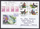 Ukraine KIEV Flower Cachet Cover 2000 Cover Brief To Denmark 4-Block Birds Vogel Oiseau WWF Panda Issue - Ukraine