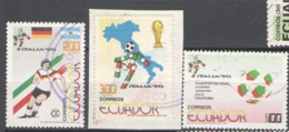 Ecuador Used 1990 Football, Soccer, World Cup - Italy - Ecuador