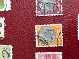 DEUTSCHE REICH SFONDO ARANCIONE IMPERATORE 1 VALORE - Stamps