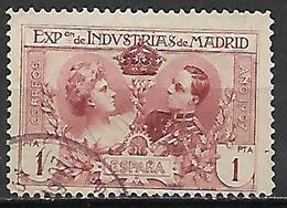 ESPAGNE.    1907     .Y&T N° 240 Oblitéré.  .cote 17,00 Euros - Gebruikt