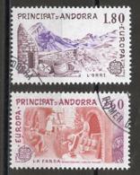 Andorre Français - Andorra 1983 Y&T N°313 à 314 - Michel N°334 à 335 (o) - EUROPA - Usados