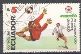 Ecuador Used 1986 Football, Soccer, World Cup - Mexico - Ecuador