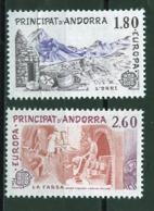 Andorre Français - Andorra 1983 Y&T N°313 à 314 - Michel N°334 à 335 *** - EUROPA - Andorra Francesa