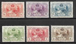 ESPAGNE   -   1907  .  Y&T N° 236 à 241 (*).  Série Complète .   Cote 60,00 Euros - Ongebruikt