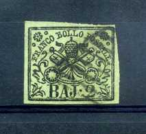 1852 STATO PONTIFICIO 1° Em. 2 Baj USATO N.3 - Papal States