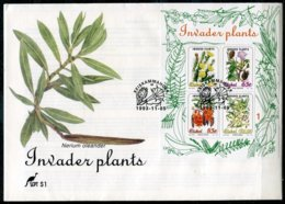 Ciskei Mi# Block 9 FDC - Flora Invader Plants - Bophuthatswana