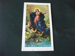 SANTINO HOLY PICTURE VERGINE MARIA ASSUNTA IN CIELO  2/302 - Godsdienst & Esoterisme