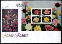 Ciskei Mi# Block 10 FDC - Flora Roses - Bophuthatswana