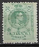 ESPAGNE   -  1909 / 22  . Y&T N° 249 *.  .cote 12,00 Euros - Ongebruikt
