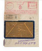 1941 EMA Affrancatura Meccanica Rossa Freistempel Mantova Consorzio Agrario Provinciale Ente Morale Agricoltura - Machine Stamps (ATM)