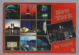 US.- NEW YORK BY NIGHT. GOLDEN APPLE POSTCARDS. - Manhattan