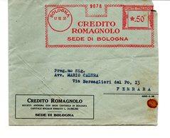 1933 EMA Affrancatura Meccanica Rossa Freistempel Bologna Credito Romagnolo Banca - Machine Stamps (ATM)