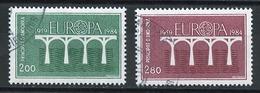 Andorre Français - Andorra 1984 Y&T N°329 à 330 - Michel N°350 à 351 (o) - EUROPA - Usados