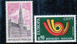 FRANCE    1973  Y.T. N° 1752  1753  NEUF** - Francia