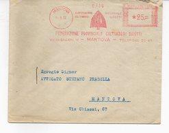 1952 EMA Affrancatura Meccanica Rossa Freistempel Mantova Federazione Provinciale Coltivatori Diretti Agricoltura - Machine Stamps (ATM)
