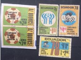 Ecuador Used 1978 Football, Soccer, World Cup - Argentina - Ecuador