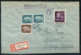 F0282 - BÖHMEN UND MÄHREN - R-Bf. Ab Prag Mit Mi.113, Im Reich (Steinwiesen) Mit 790 (senkr.Paar) + 826 Auffrankiert - Bohemia Y Moravia