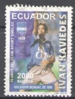 Ecuador Used 1999-2000 Football, Soccer, The 70th Anniversary Of Emelec Football Club - Ecuador