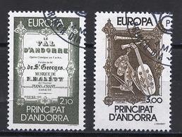 Andorre Français - Andorra 1985 Y&T N°339 à 340 - Michel N°360 à 361 (o) - EUROPA - Usados