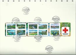 Sur Feuille D'album Safe;oblitération 1er Jour ; Carnet BC 837 Croix Rouge - Markenheftchen