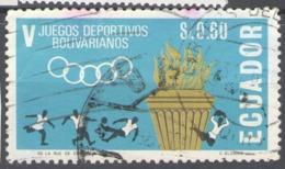 Ecuador Used 1965 Football, Soccer, The 5th Bolivar Games - Quito - Ecuador
