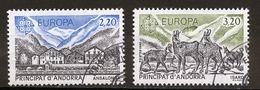 Andorre Français - Andorra 1986 Y&T N°348 à 349 - Michel N°369 à 370 (o) - EUROPA - Usados