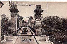 DEPT 24 : édit. Bloc Frères : Port Sainte Foy Le Pont Suspendu - Andere Gemeenten