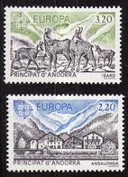Andorre Français - Andorra 1986 Y&T N°348 à 349 - Michel N°369 à 370 *** - EUROPA - Andorra Francesa