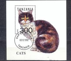 TANZANIA - FAUNA - CATS -  MI.NO.BL 201 - CV - 3 € - Tanzania (1964-...)