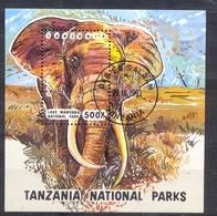 TANZANIA - FAUNA - ELEPHANTS -  MI.NO.BL 228 - CV - 3,5 € - Tanzania (1964-...)