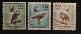Turquie Türkiye 1967 N° PA 49 / 51 Inc ** Oiseaux De Proie, Faucon, Aigles, Épervier, Buse, Busard, Rapaces - 1921-... Republiek