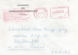 UE119 Lettre De La Commission Européenne De Luxemburg Pour L'Autriche Avec EMA 170 Avec Texte 4 Langues.  TTB - Europese Gedachte