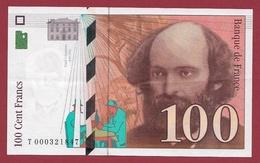 """100 Francs """"Cézanne"""" 1997 ---TTB+--ALPH -T- Numéro .000321847---PREMIER MILLION - 1992-2000 Ultima Gama"""