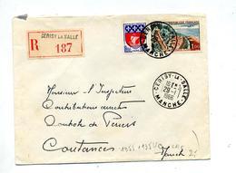 Lettre Recommandée Cerisy Sur Touquet Paris - Marcophilie (Lettres)