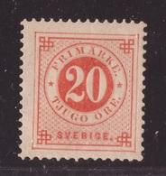 Sweden, 1886 Issue 20 Ore Hinged Mint -CS90 - Zweden