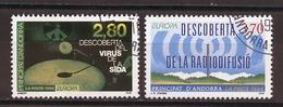Andorre Français - Andorra 1994 Y&T N°444 à 445 - Michel N°465 à 466 (o) - EUROPA - Andorra Francesa