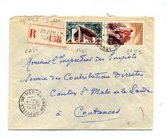 Lettre Recommandée Gouville Sur Joux Ronchamp - Marcophilie (Lettres)