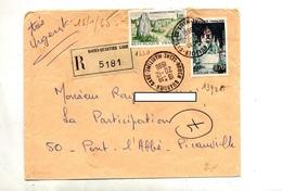 Lettre Recommandée Rouen Sur Provins Carnac - Marcophilie (Lettres)