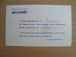 CARTE DE VISITE DEPALLIER PRESTIGE ORLEANS - Visiting Cards