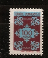 Turquie Türkiye 1975 N° Service S 136 ** Arabesques, Motif, Dessin, Beaux-arts, Ornement, Arts Graphiques - 1921-... Republiek