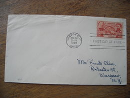 1948 FDC Oregon Territory Centenial 100 Ans - Premiers Jours (FDC)