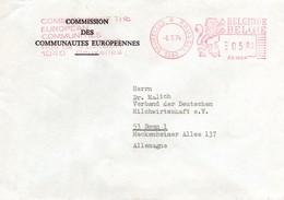 UE121 Lettre De La Commission Européenne De Bruxelles Pour L'Allemagne Du 6.5.74 Avec EMA PB1224  - Texte 4 Langues. TTB - Europese Gedachte
