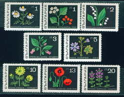 1922 Bulgaria 1969 Herbs MNH/THYME MEDLAR CAMOMILE LILY-OF-THE-VALLEY BELLADONNA MALLOW BUTTER CUP POPPIES /Heilpflanzen - Vegetazione