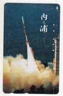 JAPON TELECARTE ESPACE Décollage D'une Fusée - Astronomia