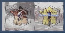 Cyclisme Centenaire Du Tour De France Maurice Garin Et Coureur De 2003 à L'arrivée Paire N° 3582 Et 3583 Neufs Gommés - Unused Stamps
