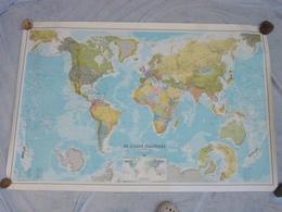 Lot De 33 Grandes Cartes De France Et Du Monde - Voir Descriptif - Geographical Maps