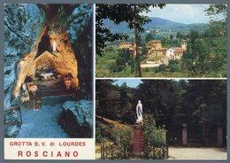 °°° Cartolina - Santuario Grotta B.v. Di Lourdes Rosciano Di Ponteranica Vedute Viaggiata °°° - Bergamo