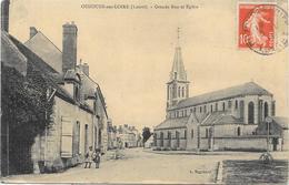 OUZOUERS SUR LOIRE : GRANDE RUE ET EGLISE - Ouzouer Sur Loire