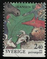 Suède 1991 Oblitéré Used Animaux Du Musée De Plein Air De Skansen SU - Gebruikt